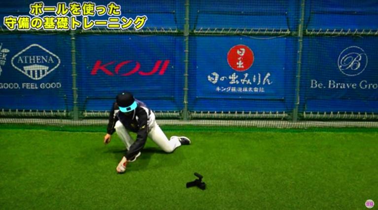 ゴロ捕球(左右逆シングル)の画像