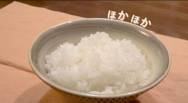 お米の炊きあがり写真