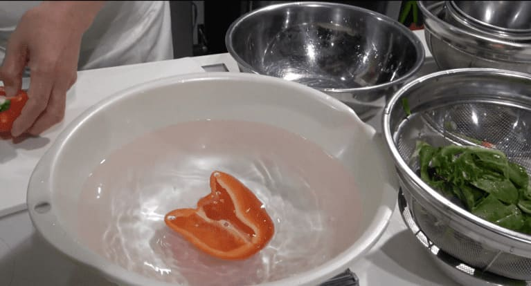 パプリカの50度洗いについて