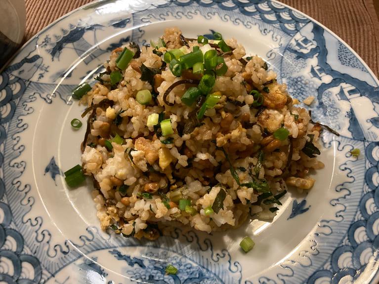 納豆チャーハンのレシピ
