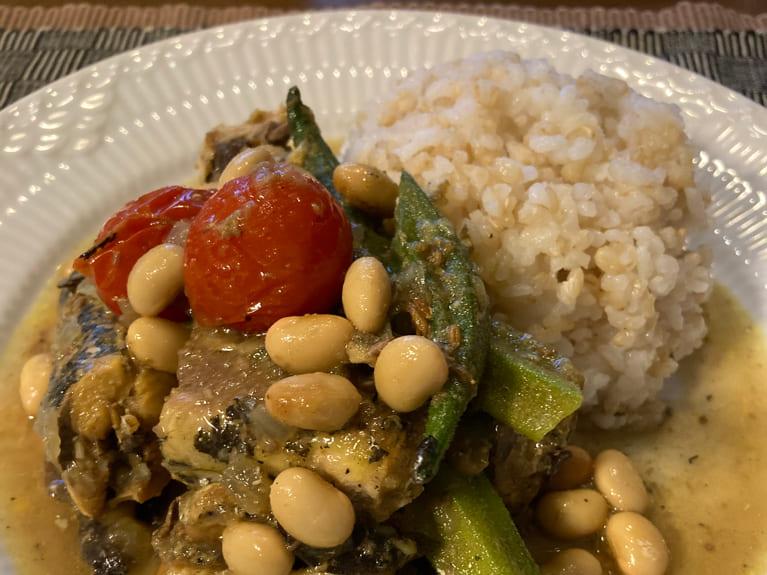 大豆と鰯のカレーのレシピ