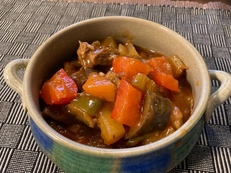 すじ肉トマト煮のレシピ